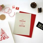 Merry Christmas Weihnachtskarte