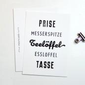 Eine Prise - Typo Postkarte