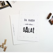 Da haben wir den Salat Postkarte