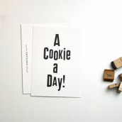 A Cookie a Day - Typo Postkarte