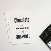Chocolate Typo Postkarte