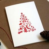 O Tannenbaum - handgedruckte Weihnachtsgrüße