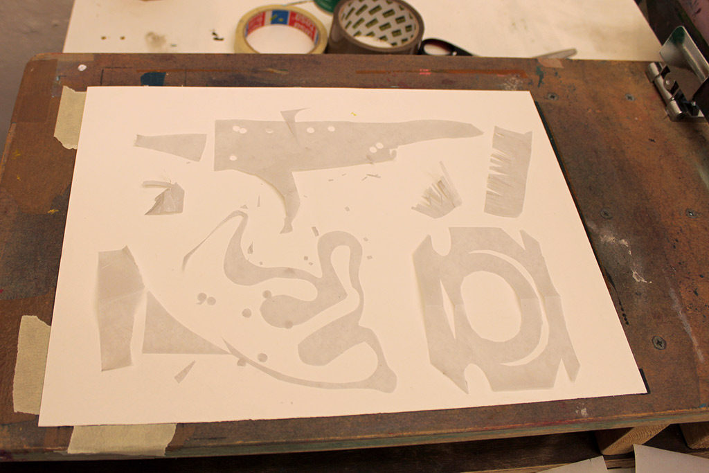 Screenprinting-paperstencils